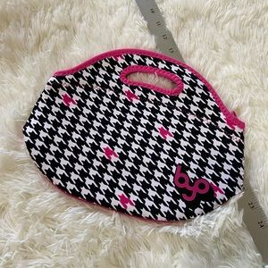 RAMBLER Pink Houndstooth Lunch Tote